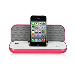 Memorex Travel Speaker with iPod and iPhone Dock, Pink