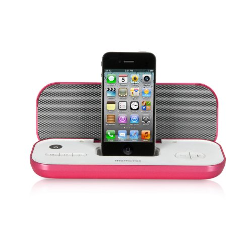 Memorex Travel Speaker with iPod and iPhone Dock, Pink (Memorex Ihome)