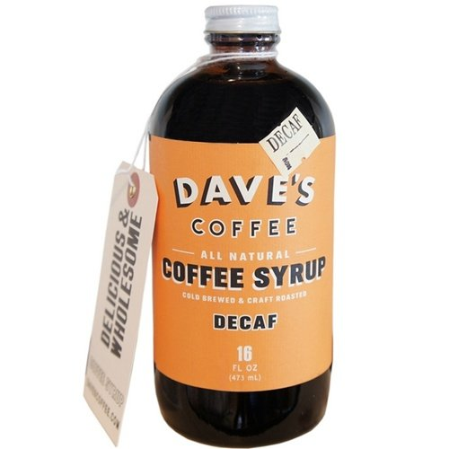 Dave's 16 Oz Decaf All Natural Cold Brewed Coffee Syrup
