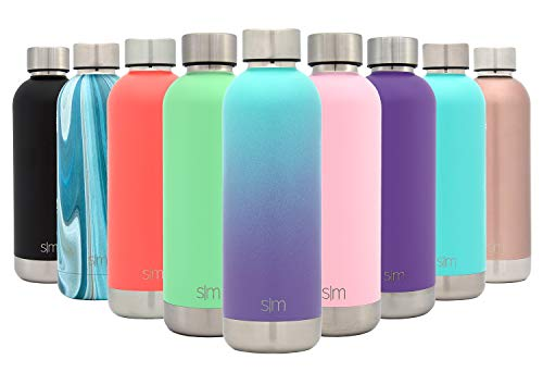 Simple Modern 17oz Bolt Sports Water Bottle - Stainless Steel - Double Wall Vacuum Insulated - Leak Proof Bottle Ombre: Tropical Seas