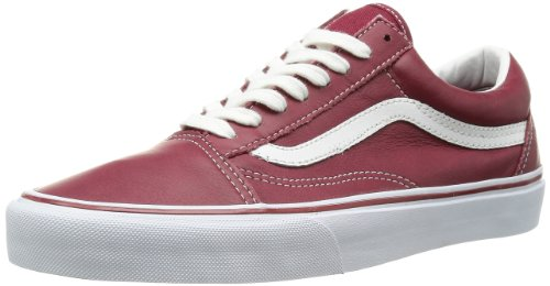 Vans U OLD SKOOL (2 TONE) NAVY/C - Zapatillas de cuero unisex Rojo - Leather Tibetan Red