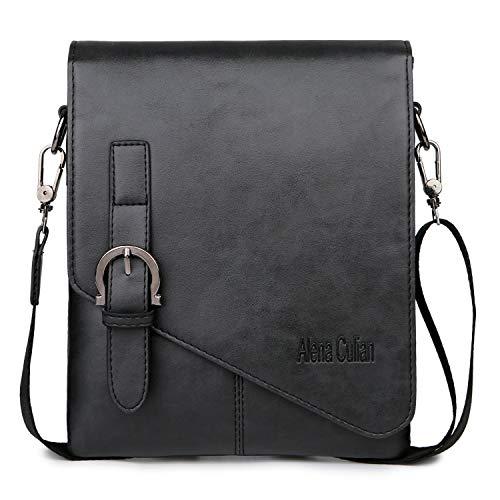 Alena Culian Men Shoulder Bag Messenger Bag Men Bag Crossbody Bag For ipad(black)