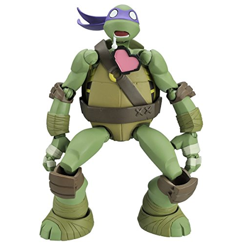 [Revoltech Mutant Ninja Turtles Donatello about 140mm ABS & PVC painted action figure] (3 Ninjas Kick Back Costume)