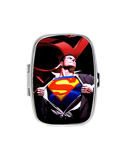Superman Change Costume Custom Unique Stainless Steel Pill Box Medicine Tablet Holder Decorative Metal Organizer - Diy Superman Costumes