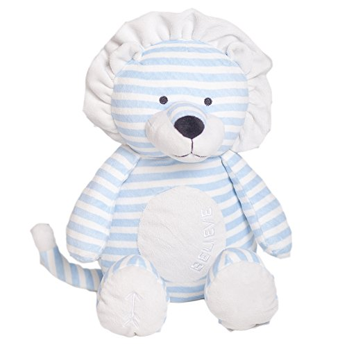 Bella Tunno Believe Lion Lullaby Poetic Plush, Blue, Large