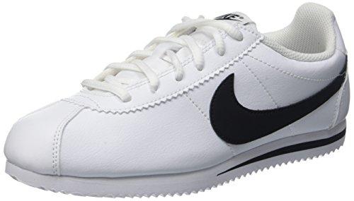 Nike Kids Cortez (GS) White/Black Casual Shoe 4 Kids US
