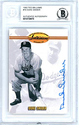 hed 1993 Ted Williams Card Autographed #16 Los Angeles Dodgers - Beckett Authentic ()
