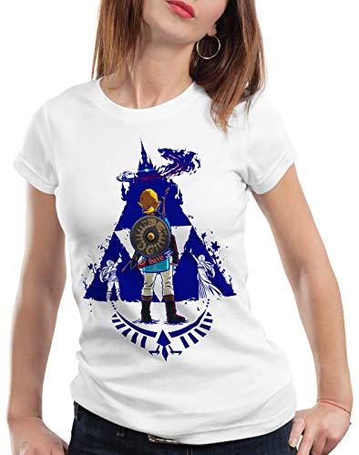 Femme Link t Gamer Blue Hyrule A Blanc Breath T n shirt 0wC0tqF