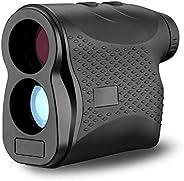 Hattomen Outdoor Compact 6X24 660 Yard Laser Range Finder Golf Rangefinder Hunting Monocular Telescope Distanc