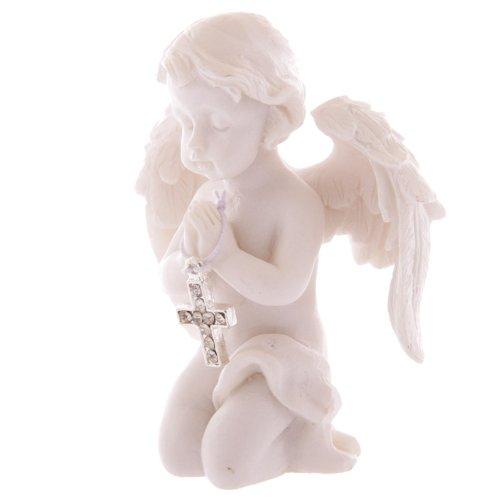 Figura ángel rezando con cruz
