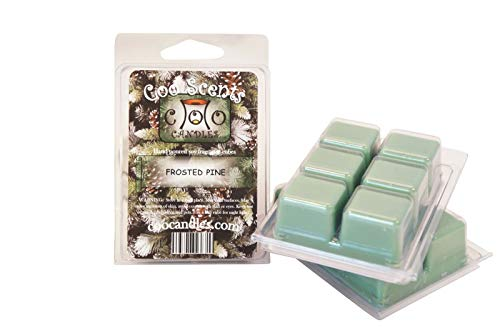 Coo Candles 3 Pack Soy Frosted Pine Highly Scented Wickless Candle Bar Wax Melts - Great for Christmas and ()