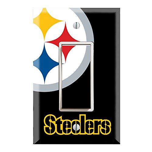 Single Rocker Wall Switch/Outlet Cover Plate Decor Wallplate - Steelers