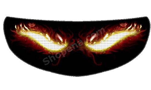 SkullSkins Fire Eyes Universal Full Face Motorcycle Helmet Windscreen Graphic Visor Tint Shield Sticker Decal