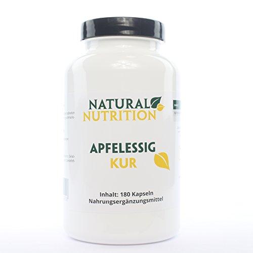 Apfelessig Kur |100% natürliche Apfelessig Kapseln, Verdauung anregen |180 Kapseln
