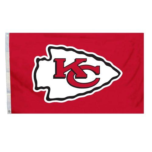 (NFL Kansas City Chiefs 3 x 5-Feet Flag with Grommets)