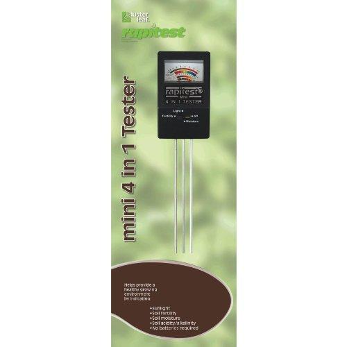 Luster Leaf 1818 Rapitest Mini 4-in-1 Soil Tester Outdoor/Garden/Yard Maintenance (Patio & Lawn upkeep)