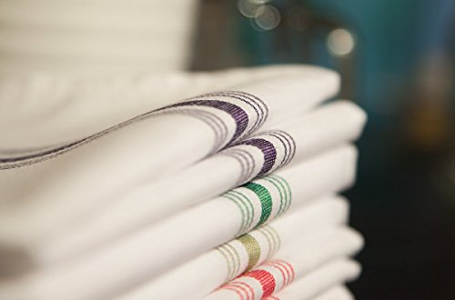 Carlisle 53771822NH052 Restaurant Quality Cloth Dinner/Bistro Napkins, 18'' x 22'', Purple Stripe (Pack of 12) by Carlisle (Image #4)