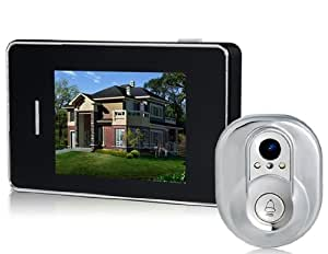 """2.8"""" LCD Touch Screen Peephole Video Doorbell Intercom System with Night Vision, Video Recorder & Card Reader"""