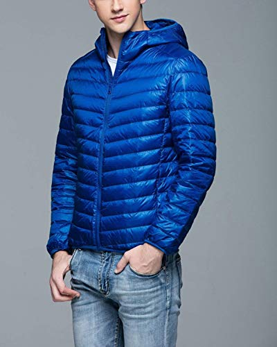 Autumn fashion Mens Boy Jacket Quilted Winter Jacket Winter Outerwear Hooded Down Coat Long Saphir Lightweight Clásico Men's Down Sleeve Down Fit Slim Laisla Jacket RdzABqRx