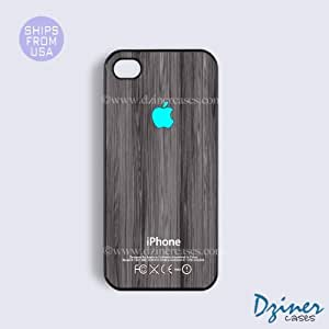 iPhone 5c Case - Dark Grey Wood Turquoise Design iPhone Cover (NOT REAL WOOD