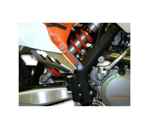 NEW KTM ALUMINUM EXHAUST GUARD 250 350 450 500 SXF EXC XCF XCW 2011-14 U6912023