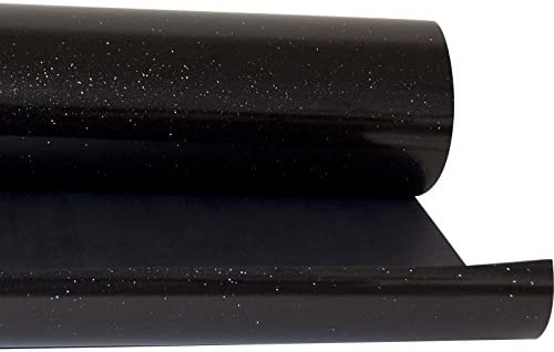 hoho Sparkle Glitter Negro Camiseta Ropa vinilo Flex calor transferencia de prensa Textil película HTV 20