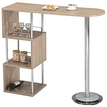 Elegant Breakfast Bar Table Storage Home Wine Drinks Glass Tier Rack Bottle Holder Shelf White Oak  sc 1 st  Amazon UK & Elegant Breakfast Bar Table Storage Home Wine Drinks Glass Tier Rack ...