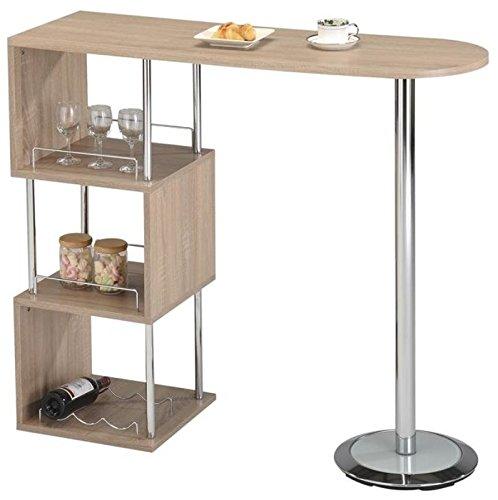 Elegante mesa Barra de Desayuno de almacenamiento hogar vino ...
