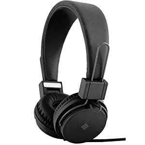 Polaroid PHP8500BK Stereo Headphones With Microphone, Fordable, Tangle-Proof, Compatible With All Devices