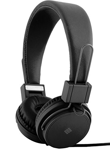Polaroid PHP8500BK Stereo Headphones With Microphone, Fordable, Tangle-Proof, Compatible With All - Polaroid Kids