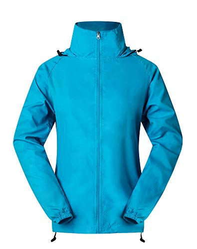 Cheering Spmor Women's Lightweight Jackets Waterproof Windbreaker Jacket Running Coat S