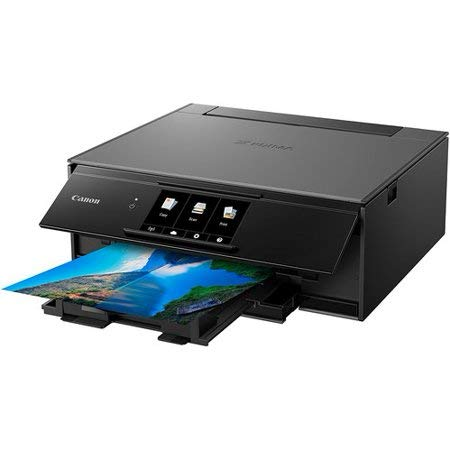 Canon TS9120 Wireless All-in-One Printer with Scanner and Copier: Mobile and Tablet Printing, with AirPrint and Google Cloud Print Compatible, Black, 14.2 x 14.7 x 5.6 inches by Canon (Image #1)