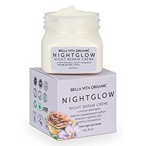 Bella Vita Organic Night Glow Face Cream For Skin Repair, Hydration, Anti Ageing & Dryness Control With Saffron, Babchi…