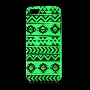 Aztec Pattern Glow in the Dark Phones Hard Case for iPhone 5/5S
