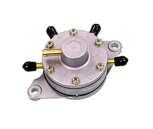 (Mikuni DF52/92 Fuel Pump - Triple Outlet - Round - Flush Mount)