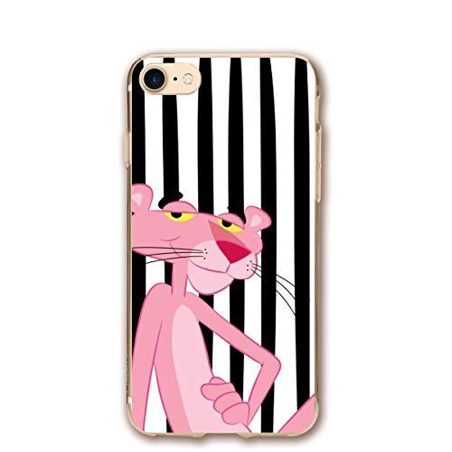 SWDFFG iPhone 7 iPhone 8 Case- Stylish Pink Panther PC Slim Shockproof Flexible Back Protective Case for iPhone 7/8
