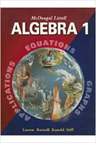 McDougal Littell Algebra 1 Resource Book Chapter 4