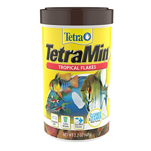 Tetra TetraMin Tropical Flakes 2.2 Ounces, Nutritionally Balanced Fish Food