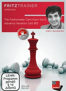 "Price comparison product image The Fashionable Caro-Kann, Vol. 2 - Chess Opening Training Software DVD & ChessCentral's ""Art of War"" Ebook"