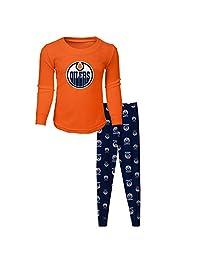 Edmonton Oilers Youth Long Sleeve T-Shirt & Pants Sleep Set