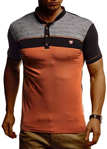 Leif Nelson Herren Sommer T-Shirt Polo Kragen Slim Fit Baumwolle-Anteil Basic schwarzes Männer Poloshirts Longsleeve-Sweatshirt Kurzarm Weißes Kurzarmshirts lang LN1420