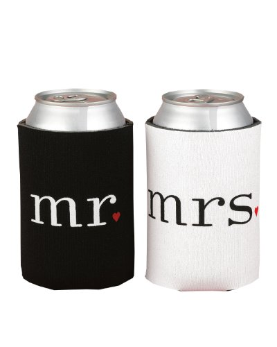 Mr. and Mrs. Can Coolers Gift Set made our list of camping gifts couples will love and great gifts for couples who camp