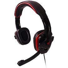 Fone Estéreo Gaming com Microfone, G-Fire, Microfones e Fones de Ouvido, Preto/Vermelho