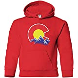 Threadrock Kids Colorado Mountain Youth Hoodie Sweatshirt M Red