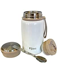 Fijoo 27oz Best Stainless Steel Food & Soup Thermos +...