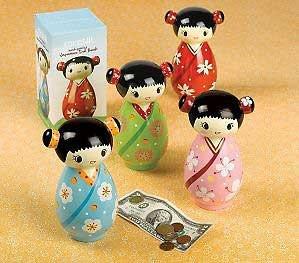 Kokeshi Japenese Ceramic Doll Bank