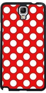 Funda para Samsung Galaxy Note 3 Neo/Lite (N7505) - Rojo Blanco De Lunares Con Motivos by Djuranne