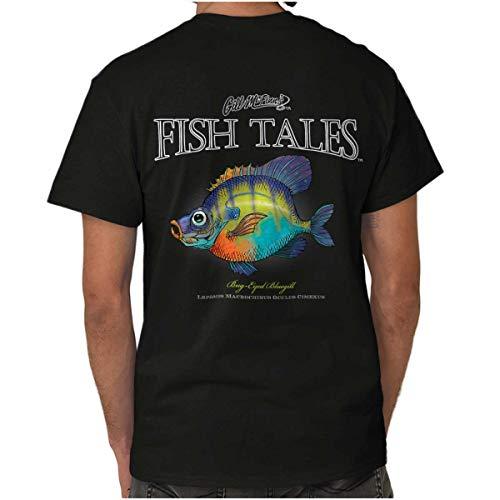 Fishing Gill McFinn 's Bug-Eyed Bluegill Fish Printed T-Shirt Small Bug-Eyed Bluegill Fish -