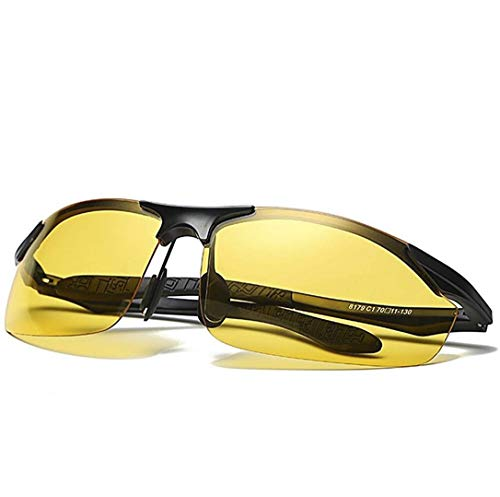 HD Night Vision Polarized Glasses Anti-Glare Clear Fashion Sunglasses for Outdoor Activities Fit for Men Women Driving Protection ()
