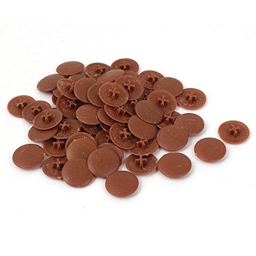 uxcell 6mm Phillips Screws Round Shape Plastic Decoration Cap Covers 60 Pcs